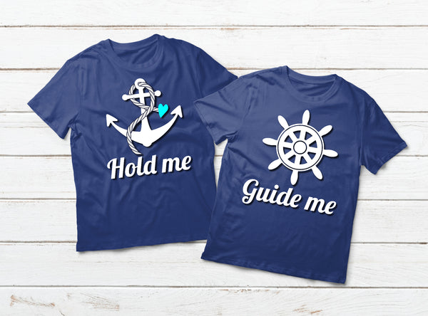 Couple Cruise Shirt Hold Me Guide Me Couple Matching Outfit
