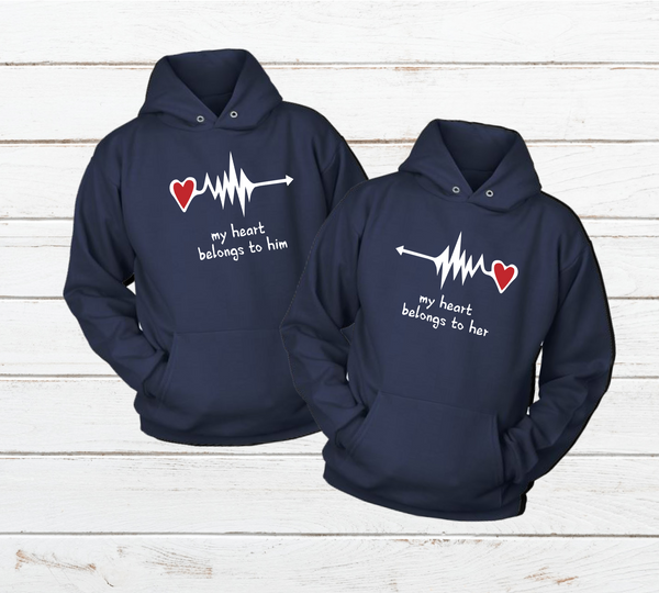 Couples Hoodies My Heart Belong to You
