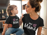 Mommy and Me Outfits Mama Mini Mother Daughter Shirts-Black
