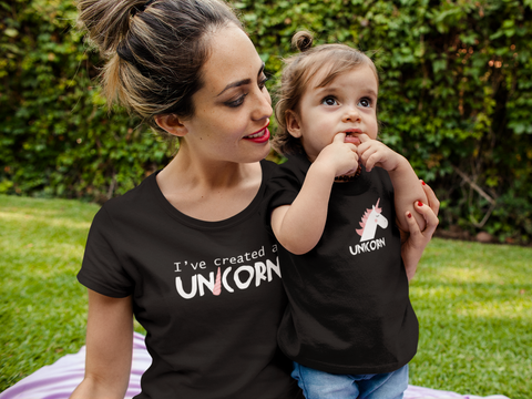 Mommy and Me Outfits I've Created a Unicorn Matching Shirts