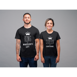 King and Queen Couples Matching Shirts Funny Quote