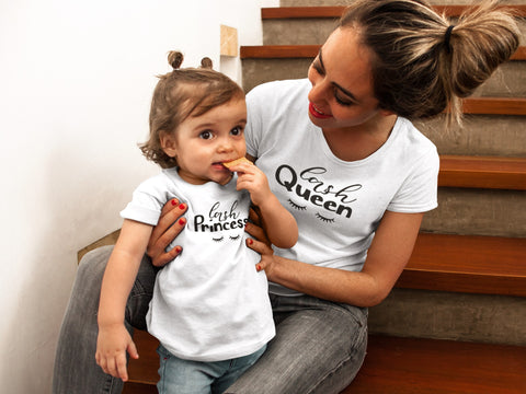 Mommy and Me Outfits Lash Queen and Princess Shirts