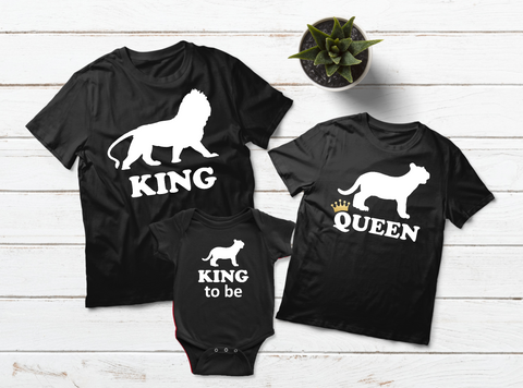 Family T Shirts Matching Family Outfits King Lion