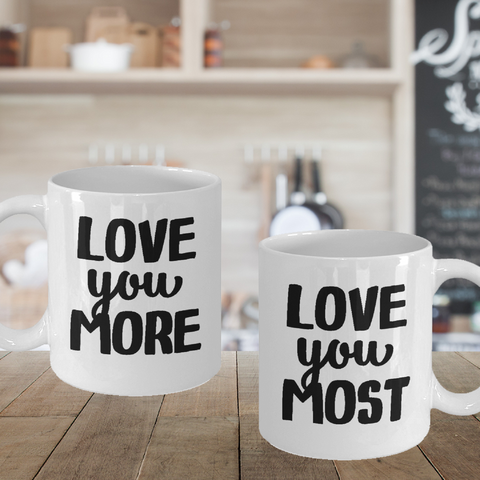 Love U More Most Couples Gifts Coffee Mugs Valentine