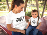 Mommy and Me Outfits Mama Wolf Shirt Mother and Son