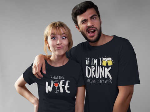 Couples Shirts Drinking Matching Outfits for Husband and Wife