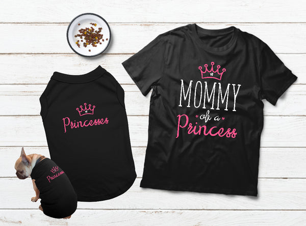 T Shirt for a Dog Mom Gift Mommy and Me Outfits Dog Pajama - Black