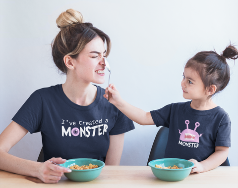 Mother Daughter Shirts I've Created a Monster Mommy and Me