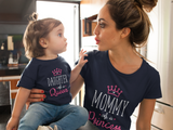 Mommy and Me Queen Princess Mother Daughter Matching Shirts