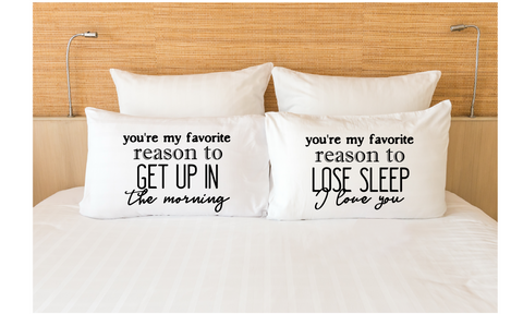 Couple Gifts Pillowcases Matching My Favorite Reason
