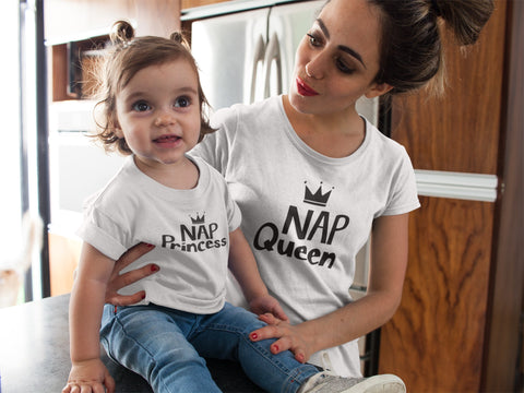 Mommy and Me Outfits Nap Queen and Princess Shirts
