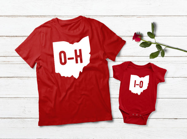 Ohio State Shirts Father and Son Matching Outfits Baby Apparel