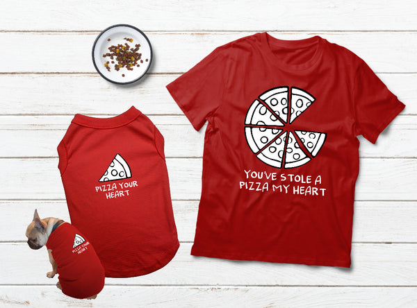 T Shirt For a Dog Lover Gift Matching Pajamas with Dog Pizza My Heart