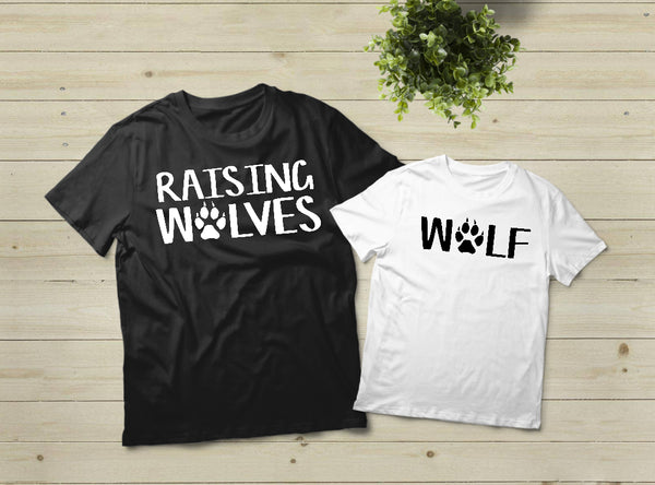 Mommy and Me Outfits Mama Wolf Shirt Pup Wolfpack