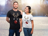 Rudolph Couple Shirts Matching Christmas His and Hers Gift