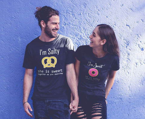 Matching Couples Shirts Salty and Sweet Funny Gift