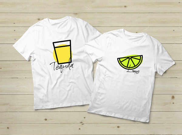 Tequila and Lime Matching Shirts Couple Gift