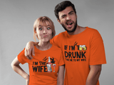 Halloween Couples T Shirts Too Drunk