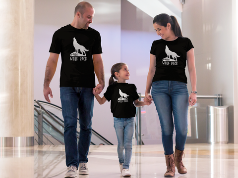 Wolf Pack Family T Shirts Mom Dad Son Daughter Matching Shirts