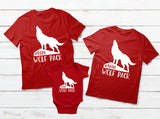 Wolf Pack Family Outfit Mom Dad Son Daughter Matching Shirts