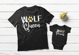 Mommy and Me Outfits Wolf Queen and Princess Mother and Daughter