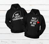 Lucky Fisherman Fishing Couple Hoodies Pullover