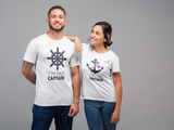 Cruise Couple Shirts His and Hers Captain Anchor Nautical Gift