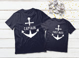 Father Son Shirts Captain Dad and First Mate Matching Shirts