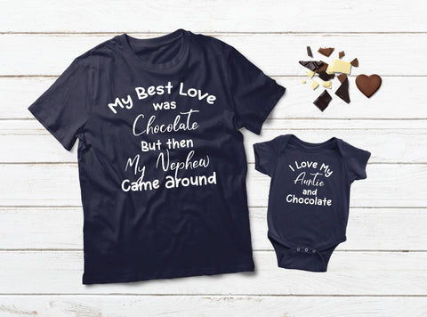 Aunt and Baby Matching Outfits Nephew Chocolate Shirts