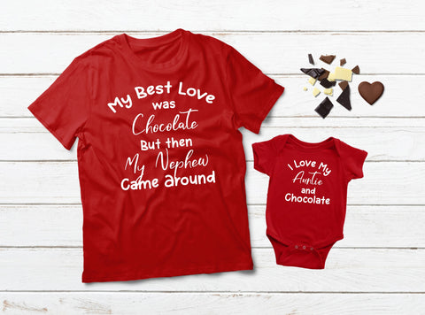Aunt Gifts Aunt and Niece Matching Shirts Chocolate Funny