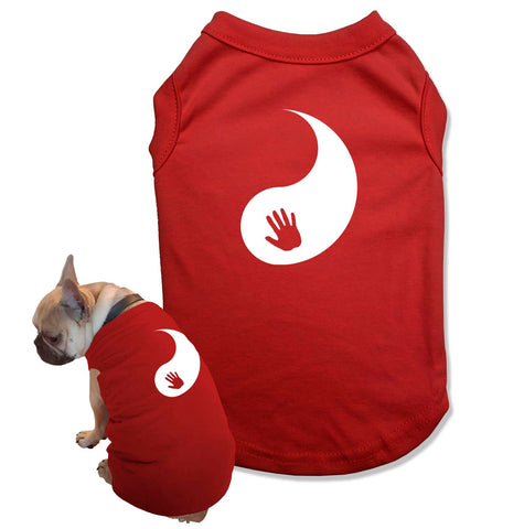 Yin and Yang T Shirt for a Dog Lover Gift Dog and Owner