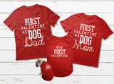 T Shirt For a Dog Valentines Day Family Matching Pajamas with Dog