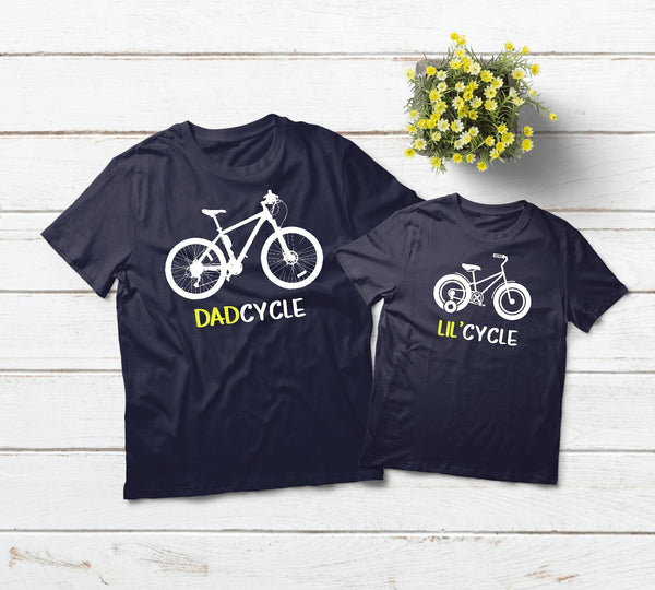 Father Son Shirts Bicycle Outfits Cycling Gift Toddler