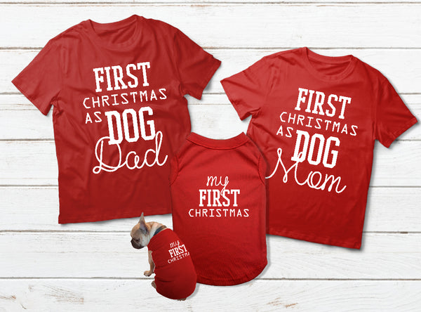 T Shirt for a Dog Mom Shirts and Dog Dad Dog Outfit for Christmas