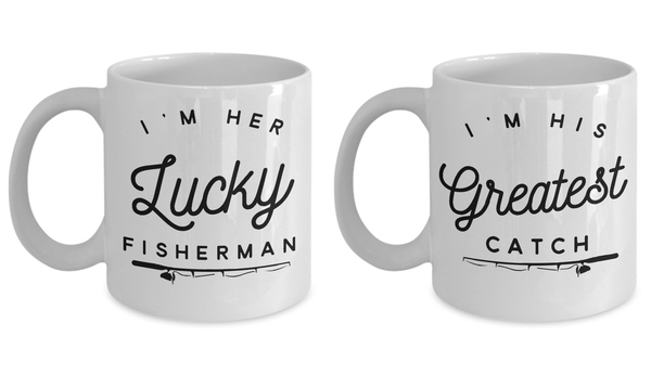 Fisherman Gift Idea Couples Fishing Coffee Mug Set