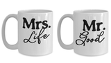 Couple Matching Mugs Mr. and Mrs. Good Life Gift