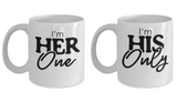 Matching Couple Mugs Love Statement Her One His Only Gift