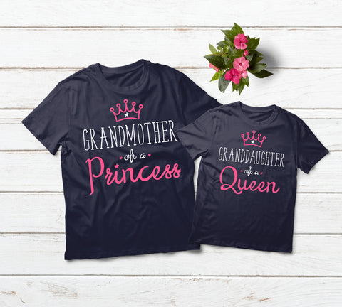 Gifts for Grandma of a Princess Shirt Grandmother Granddaughter