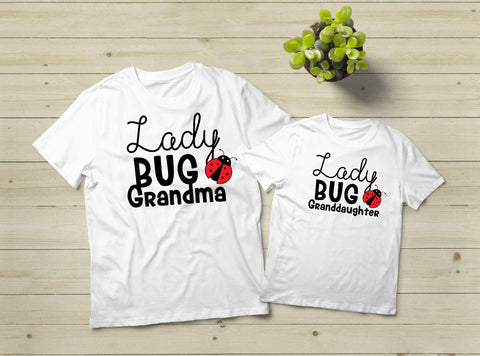 Gifts for Grandma Ladybug Shirt Grandmother Granddaughter Lady Bug