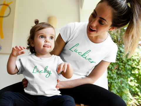 Mommy and Me Outfits Lucky Luckier St Patrick Day