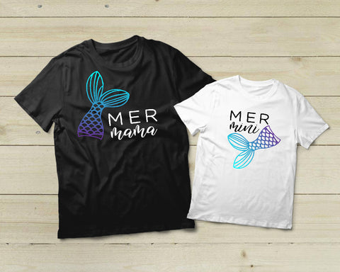 Mother Daughter Shirt Matching Outfit Mer Mama Mer Mini