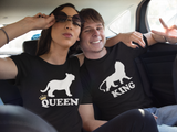 Lions Couples Shirts King and Queen Couples Matching Shirts