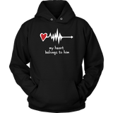 Couples Hoodies My Heart Belong to You- Black