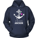 Couples Hoodies Her Captain His Anchor-Nautical Gift