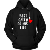 Fishing Couples Hoodies Lucky Fisherman Gifts for Couples -Black