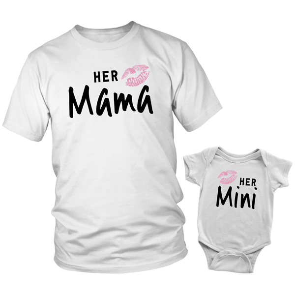 Mommy and Me Outfits - Minime Matching Outfits Mom and Daughter (White)
