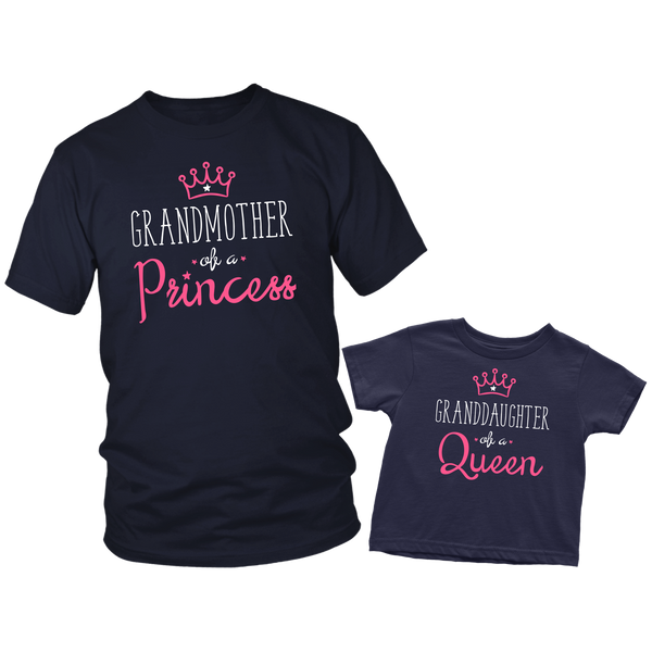 Gifts for Grandma of a Princess Grandmother Granddaughter Shirts