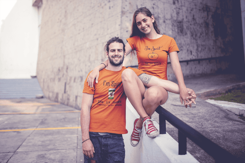 Halloween Couples T Shirts Spicy and Sweet