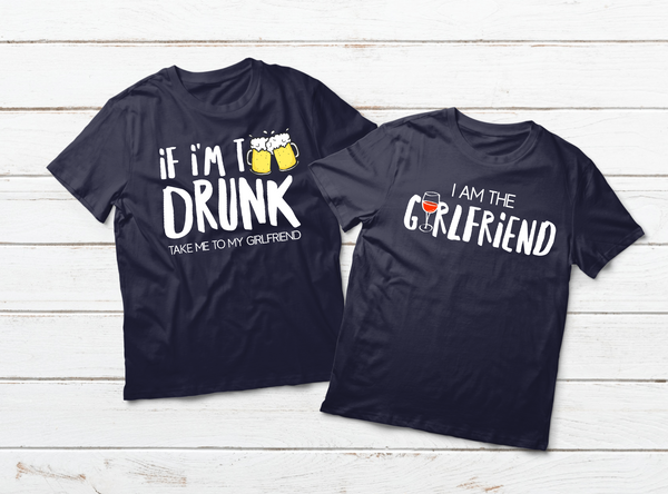 official photos 5ace7 93412 Couples Shirts Drinking Matching Outfits for Boyfriend and Girlfriend