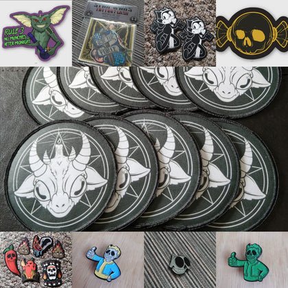 Stickers, Pins, Magnets, and Patches